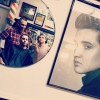 Was busy at the shop yesterday and forgot to post this.  Happy birthday to the King!! Elvis Aaron Presley #80  #elvis #blkhrtbarbershop #mirrorselfie