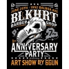 It's official. We made it a year and didn't die!! Couldn't be more stoked.  SO LETS PARTY!! Saturday June 25th Come to the shop and enjoy an ice cold beer and see some amazing art by our boy @6gun Taylor Orman. #Budweiser #skateboard #blkhrtbarbershop