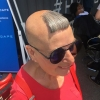 Best haircut ever at comic con 2017.  This lady was amazing.  #comiccon2017 #schick