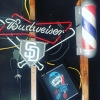 Happy Saturday everyone.  Shop is all booked up today so go out and enjoy the nice day.  We will be back at it Monday.  #padres #pacificbeach #blkhrtbarbershop