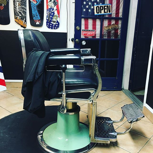 Couple of spots left in my chair for a cut tomorrow.  Good to be back.  Hit me up 858-735-7466 #blkhrtbarbershop #barberchair #sandiego #pacificbeach