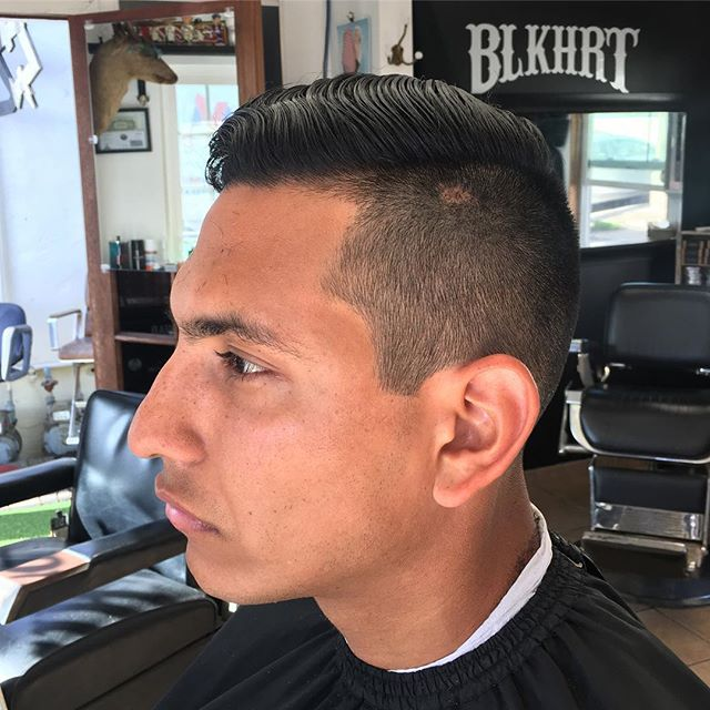 Fun fade today at the BLKHRT Barbershop by @Blkhrt #blkhrtbarbershop #fade
