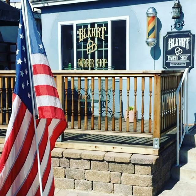 It's so nice out today.  Stop by the shop even if you don't need a cut to enjoy some sunshine on our deck.  Of course hit us up if you do need a cut.  #blkhrtbarbershop