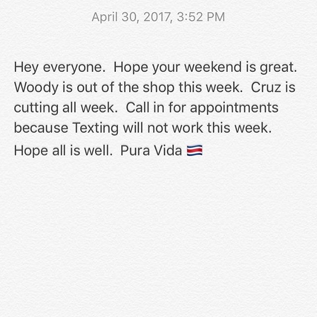 Call for appointments this week.  858-735-7466.